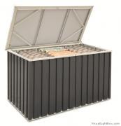 Tepro Metallgerätebox Gartenbox Auflagenbox anthrazit weiß 135 x 70 cm