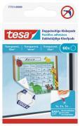 tesa Doppelseitige Klebepads für Transparente Oberflächen Glas 60 Stück