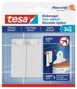 tesa Klebenagel für Fliesen und Metall Belastung bis 3kg Packung mit 2 Stück