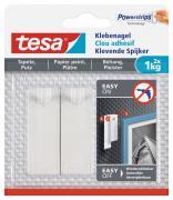 tesa Klebenagel für Tapeten und Putz Belastung bis 1kg Packung mit 2 Stück