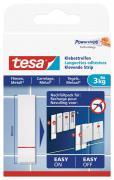 tesa Klebestreifen für Fliesen und Metall Belastbarkeit 3kg 6 Stück weiß