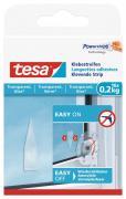tesa Klebestreifen für transparente Oberflächen und Glas Belastbarkeit 0,2kg 16 Stück