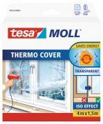 tesa Moll Fensterisolierfolie THERMO COVER wärmespeicher Isolierung transparent 4,0m x 1,5m