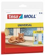 tesa Moll Schaumstoffdichtung für Fenster und Türen 6m x 9mm x 6mm weiss