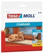 tesa Moll STANDARD Schaumstoffdichtung für Fenster und Türen I-Profil 6m x 9mm x 4mm braun