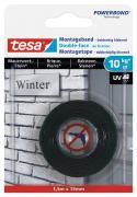tesa Montageband Doppelseitiges Klebeband für Mauerwerk und Stein Belastung bis 10kg/m 1,5 m x 19 mm