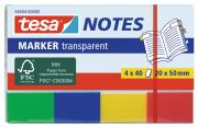 tesa Notes Haftnotizen Klebenotizen Haftnotizblock Büro 4x40 Blatt transparent 20mm x 50mm