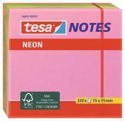 tesa Notes Haftnotizen Klebenotizen Haftnotizblock Büro neon 320 Blatt grün gelb pink orange 75mm x 75mm