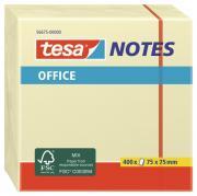 tesa Notes Haftnotizen Klebenotizen Haftnotizblock Büro 400 Blatt im Würfel gelb 75mm x 75mm