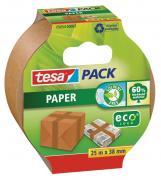 tesa Packband Papier Verpackungsklebeband 25m x 38mm braun