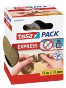 tesa Packband Verpackungsklebeband von Hand einreißbar braun 33m x 38mm