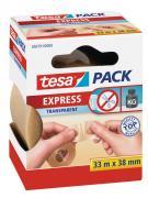 tesa Packband Verpackungsklebeband von Hand einreißbar 33m x 38mm transparent