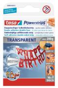 tesa Powerstrips DECO transparent bis 200g Packung mit 16 Strips