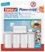 tesa Powerstrips selbstklebende Kabel Clips wieder ablösbar weiß 5 Stück