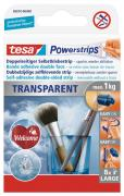 tesa Powerstrips Strips Klebestreifen doppelseitig klebend transparent Belastung maximal 1 kg 8 Stück