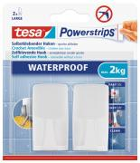 tesa Powerstrips Waterproof Wasserdicht Haken selbstklebend WAVE weiss
