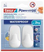 tesa Powerstrips Waterproof Wasserdicht Haken selbstklebend Large Kunststoff weiß