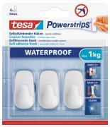 tesa Powerstrips Waterproof Wasserdicht Haken selbstklebend Small Kunststoff weiß