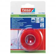 tesa Professional 04965 5m:19mm Montageband transparent doppelseitiges Klebeband