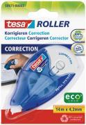 tesa Roller Korrigieren Korrekturroller nachfüllbar blau-weiß 14m x 4,2mm