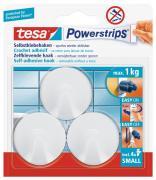 tesa selbstklebende Haken bis 1kg wieder ablösbar rund weiß 3 Stück