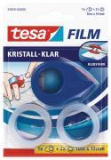 tesa tesafilm Klebeband kristall-klar 10m x 19mm farblos 2 Stück + Mini Abroller