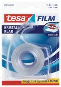 tesa tesafilm Klebeband kristall-klar 33m x 15mm farblos 1 Stück + Abroller