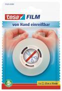 tesa tesafilm Klebeband transparent von Hand einreißbar 25m x 19mm