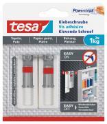 tesa Verstellbare Klebeschraube für Tapeten und Putz Belastung bis 1kg 2 Stück