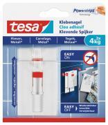 tesa Verstellbarer Klebenagel für Fliesen und Metall Belastung bis 4kg 2 Stück