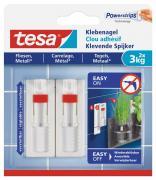 tesa Verstellbarer Klebenagel für Fliesen und Metall Belastung bis 3kg 2 Stück