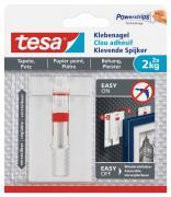 tesa Verstellbarer Klebenagel für Tapeten und Putz Belastung 2kg 2 Stück