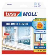 tesamoll Fensterisolierfolie THERMO COVER transparent wärmespeicher Isolierung 1,7m x 1,5m