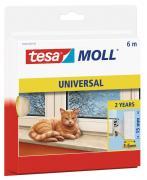 tesamoll Schaumstoffdichtung für Fenster und Türen weiß 6m x 15mm x 6mm