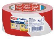 tesapack Markierungs- und Warnklebeband rot-weiß 66m x 50mm