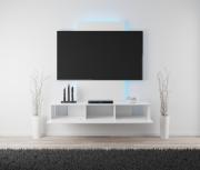 Tronitechnik Design TV Lowboard VELAN 180x38,5x26 cm Weiß Hochglanz