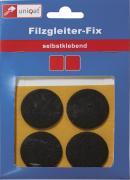 Uniqat Filzgleiter FIX Ø 17 mm rund für harte, glatte Böden selbstklebend dunkelbraun 20 Stück