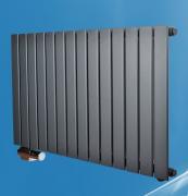 Wandheizkörper APOLLO kompakt einlagig anthrazit 609x600 mm Normalanschluss + Mittenanschluss