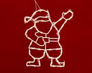 Weihnachtsmann Silhouette mit 49 Leuchten klar Innenraum Lichterkette