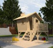 Weka Abenteuerhaus Spielhaus Gartenhaus Lotti mit Treppe und Terrasse