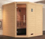 Weka Design-Sauna KEMI Eck 1 GT 195 x 193 x 200 cm