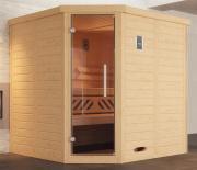 Weka Design-Sauna KEMI Eck 1 GTF 195 x 193 x 200 cm