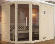 Weka Design-Sauna KEMI Eck 2 GTF 245 x 193 x 200 cm