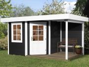 Weka Designhaus Gartenhaus 213 Plus A Gr.1 anthrazit 238x396 cm
