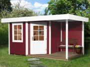 Weka Designhaus Gartenhaus 213 Plus A Gr.2 schwedenrot 298x456 cm