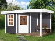 Weka Designhaus Gartenhaus 213 Plus A Gr.2 grau 298x456 cm