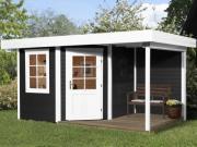 Weka Designhaus Gartenhaus 213 Plus A Gr.2 anthrazit 298x456 cm