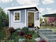 Weka Designhaus Gartenhaus 213 Plus Gr.1 grau 240x240 cm