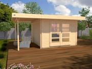Weka Designhaus Gerätehaus 126 Plus A Gr.2 natur 445x300 cm