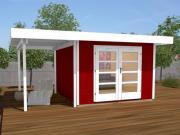 Weka Designhaus Gerätehaus 126 Plus A Gr.2 schwedenrot 445x300 cm